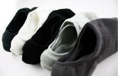 5-10 Pairs Men/'s Bamboo Ankle Invisible Nonslip Loafer Low Cut No Show Socks Lot