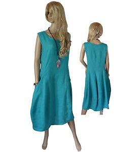 taille Robe Robe Robe en lin d' 40 50 p7xqtdwx4
