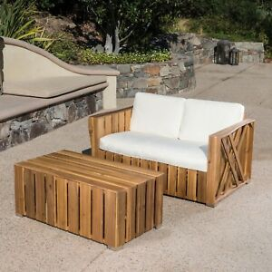 Edward-Outdoor-Acacia-Wood-Loveseat-and-Coffee-Table-Set-with-Cushions