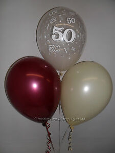 Image Is Loading 30 50th Birthday Party Helium Or Air Balloons