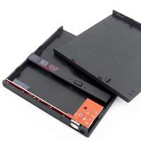 USB 2.0 to SATA CD DVD-Rom Optical Drive External Enclosure Case Laptop NEW GBP