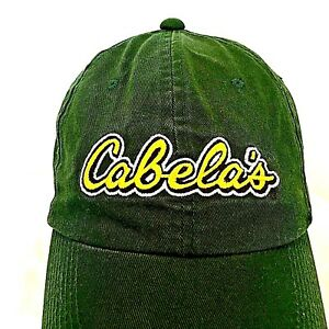 bb359e333 Details about Cabela's Green Baseball Cap Trucker Hat Cotton Adjustable
