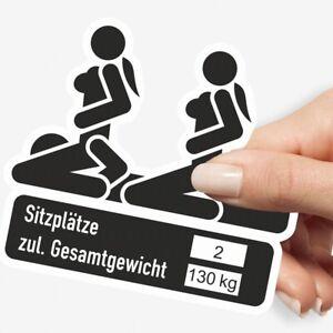 Aufkleber-2-Sitzplaetze-mit-zul-Gesamtgewicht-JDM-Stickerbomb-Tuning-Sticker