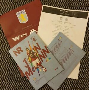 Aston-Villa-v-Leicester-City-Programme-with-teamsheet-match-worn-8-12-19