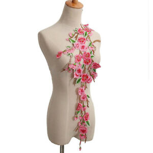 Embroidery-Rose-Flower-Sew-On-Patch-Badge-Lady-Dress-Applique-Craft-Embroidered