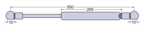 Gasdruckfeder Front und Heckscheibe für Fendt Farmer 200S 201S 203P L=500mm