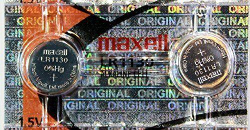 2 Pcs LR1130 / AG10 189 LR54 1.5v Maxell Alkaline Button Cell Battery Batteries