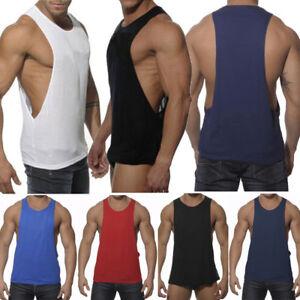 Mens-Gym-Sleeveless-Vest-Bodybuilding-Muscle-Shirt-Stringer-Workout-Tank-Top-Tee
