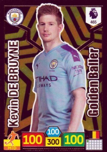 Panini adrenalyn liga premier 19//20 Golden Baller de Bruyne Manchester City