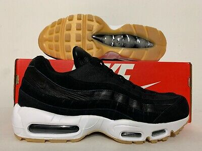 Nike Air Max 95 PRM Premium Black Dark Grey White SZ 538416-016