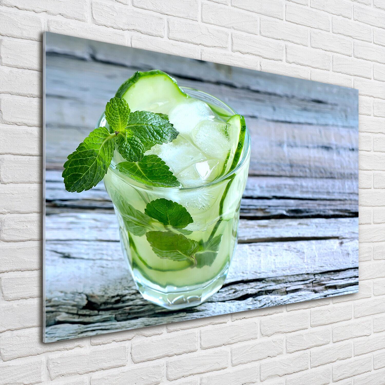 Acrylglas-Bild Wandbilder Druck 100x70 Deko Essen & Getränke Gurkenwasser