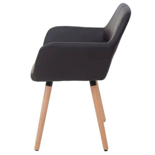 2x Chaise de salle à manger hwc-d87 Rétro Années 50er chaise fauteuil Textile//Cuir Synthétique