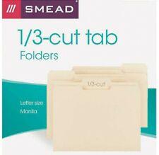 150 Pieces Smead Brand File Folders 13 Cut Letter Size Manila Std Manilla