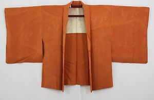 Haori-japonais-Veste-japonaise-Marron-Orange-1447