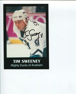Details about Tim Sweeney Anaheim Mighty Ducks NY New York Rangers Signed  Autograph Photo