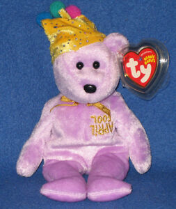 Image is loading TY-JOKESTER-the-BEAR-BEANIE-BABY-MINT-with- 2f02949ed926