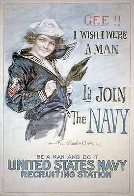 Vintage Poster US Navy Recruiting Station WIWP013 Art Print A4 A3 A2 A1