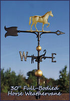 Whitehall Weathervane 30 Horse Full-bodied + Mount Ships Same Day - Gold-bronze