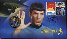 2016 Star Trek (Spock) FDC/PNC With Limited Edition Perth Mint $1 Coin