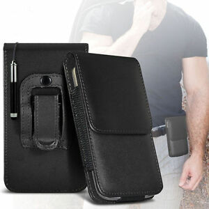 Premium-PU-Leather-Belt-Pouch-Holster-Case-amp-Pen-For-Alcatel-One-Touch-Pixi