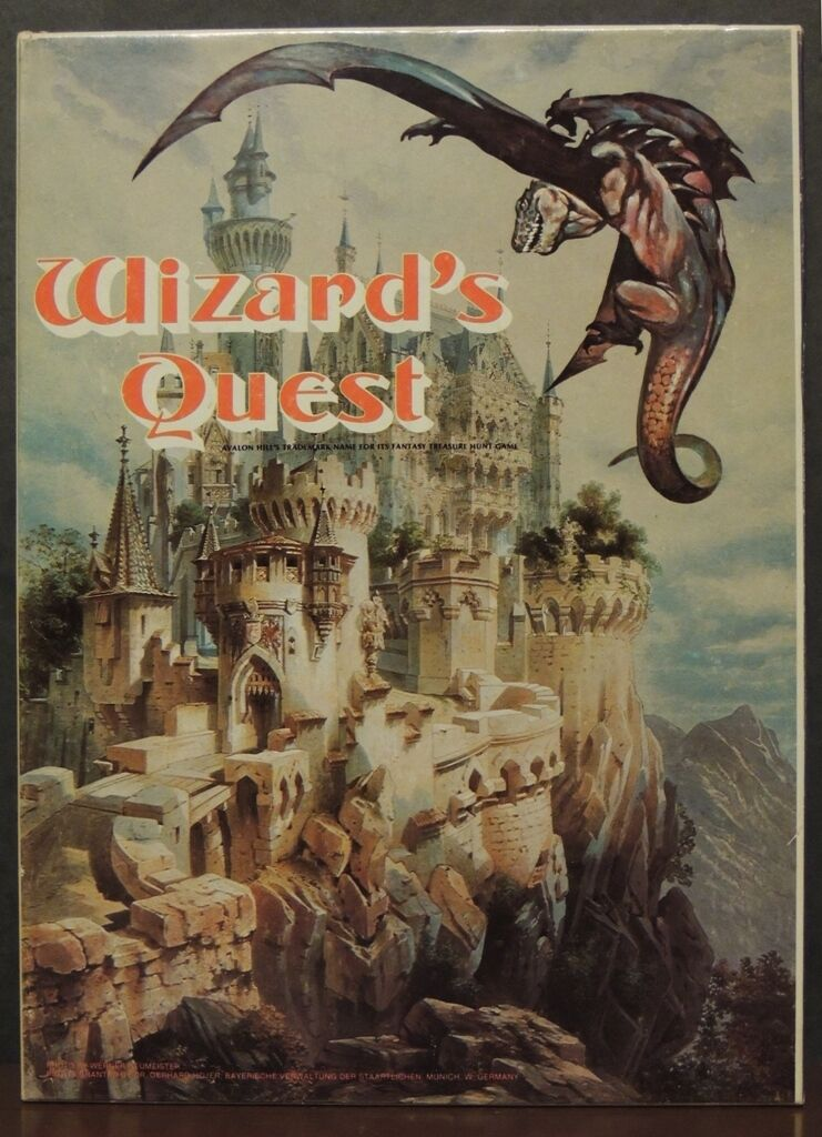 Wizard's Quest Dragons Strategy RPG 1979 2-6 players Avalon Hill D&D adventure