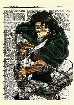 Levi Attack On Titan Anime Dictionary Art Print Poster Picture Book Japan Manga
