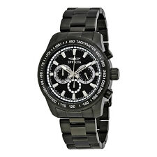 Invicta Speedway Chronograph Black Dial Black Ion-plated Mens Watch 21815