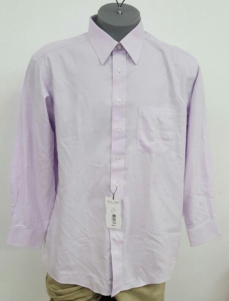 Roundtree Yorke gold Label Purple Chevron L S Men's Shirt NWT  Choose Size