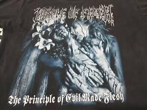 Cradle Of Filth Principle Of Evil L black t-shirt Large double sided