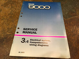 image is loading 1989-saab-9000-electrical-system-wiring-diagrams-service-