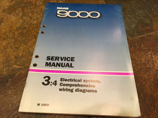 1989 Saab 9000 Electrical System Wiring Diagrams Service