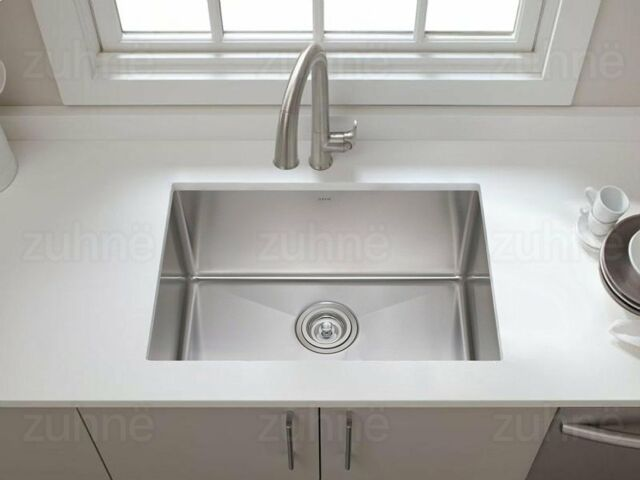 deep stainless steel kitchen sink wide kitchen zuhne 23 inch undermount deep single bowl 16 gauge stainless steel kitchen sink