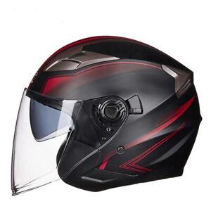 DOT-Motorcycle-Open-Half-Face-Jet-Helmet-Motobike-3-4-Scooter-Bike-Helmets
