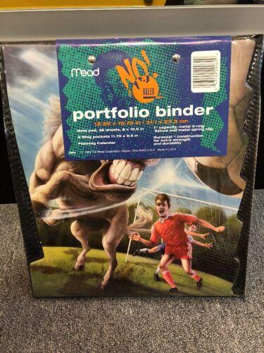 Vtg Trapper Keeper 1994 Mead No Rules Horse Soccer Portfolio Binder Never Used!