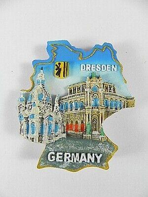 Dresden Semperoper,frauenkirche Germany,souvenir Magnet Poly 3 D Optik,6,5 Cm Exquisite (In) Verarbeitung
