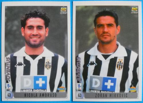 AMORUSO//MIRKOVIC JUVENTUS 63 CARDS CALCIATORI 2000 MUNDICROMO N
