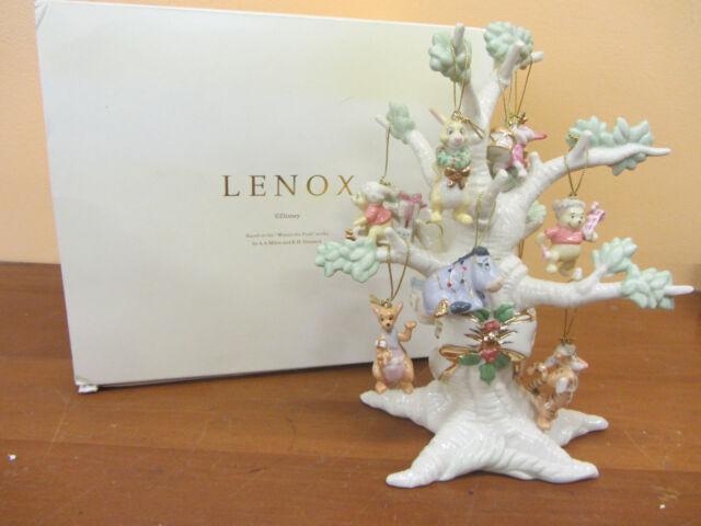 LENOX Winnie the Pooh Christmas Tree & Figures Fine Ivory China 2004