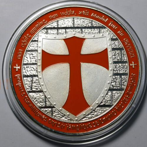Knights Templar Crusader Souvenir Medal //Coin WM Prooflike Enameled