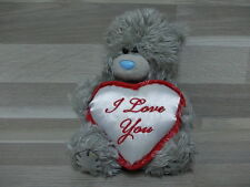 """Handmade 2 Me to You bears - 14 cm holding pillow """" I love you"""" + Wizzard bear"""