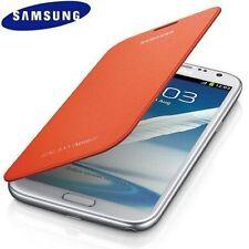 Genuine Samsung Brand Flip Open Book Case for Samsung Galaxy Note 2 NFC Orange