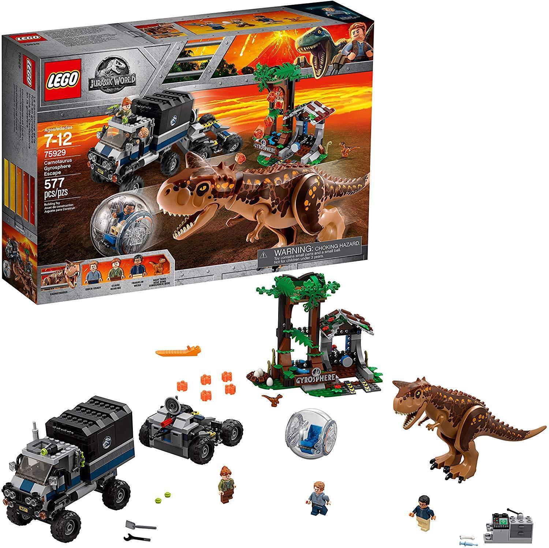 Lego Jurassic World Carnotaurus Gyrosphere Escape 75929 NEW 2018