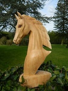 Wooden-Horse-Head-Carving-Horse-Head-30cm