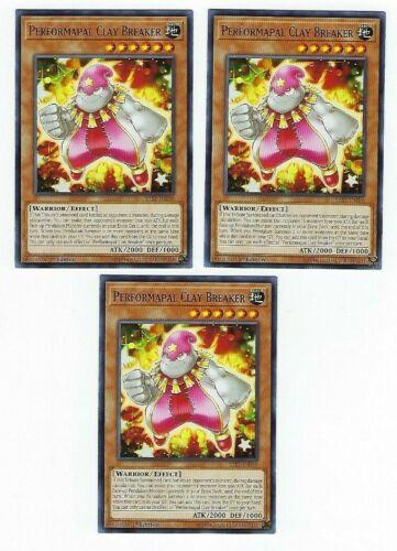 X3 YUGIOH PERFORMAPAL CLAY BREAKER SAST-EN096 COMMON 1ST IN HAND