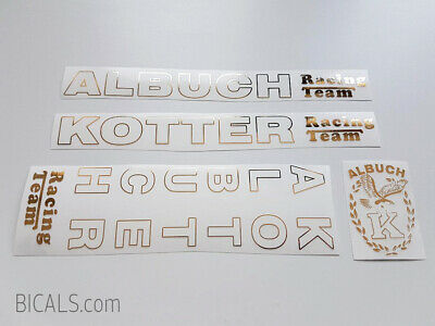 white  decal set sticker complete bicycle FREE SHIPPING ALBUCH KOTTER golden