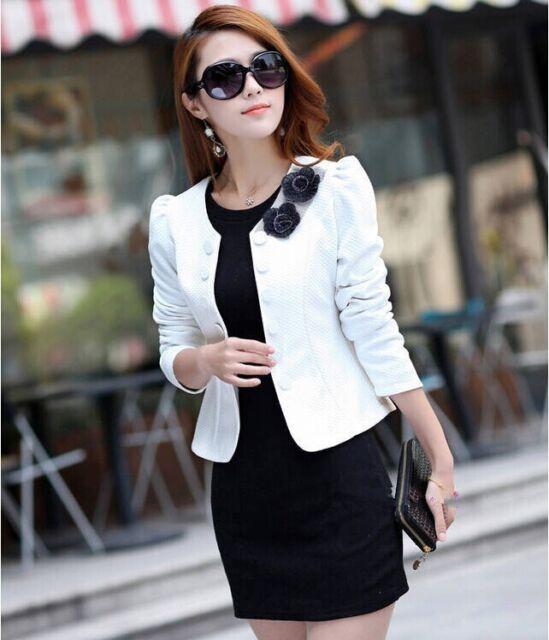 New Fashion Women Lady Tops Slim Suit OL Blazer Short Coat Jacket SZ:S-3XL YF076