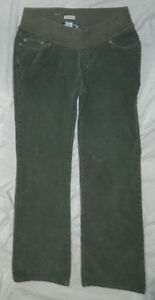 Womens Old Navy Brand Green Corduroy Maternity Jeans si
