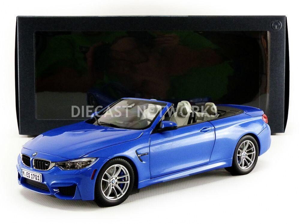 Paragon Modèles 2015 BMW M4 Cabriolet (F83) Bleu Marchand Edition 1 18