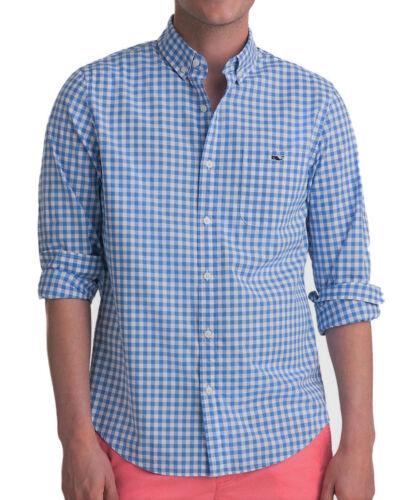 Vineyard Vines Men/'s Slim Fit Tucker Sea Park Gingham Shirt in Blue $89.50