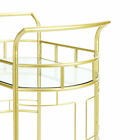 Better Homes and Gardens Fitzgerald 2-Tier Serving Cart, Gold Bar Storage