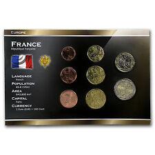 1999-2012 France 1 Cent-2 Euros Coin Set BU - SKU #34957